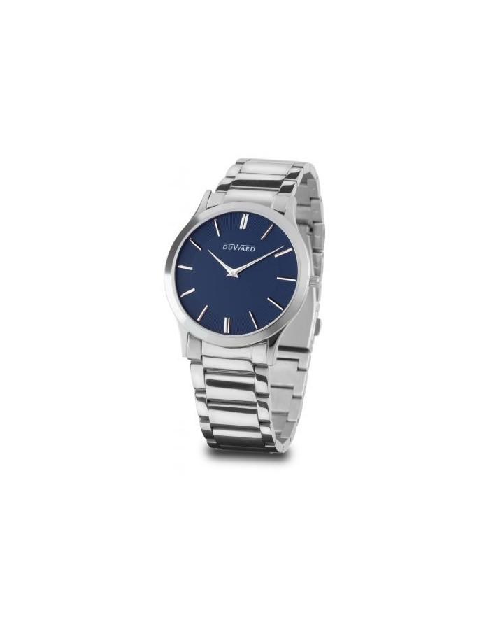 Reloj Duward para hombre de acero, esfera azul, sumergible
