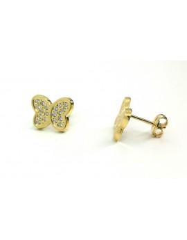 Pendientes Mariposa circonita