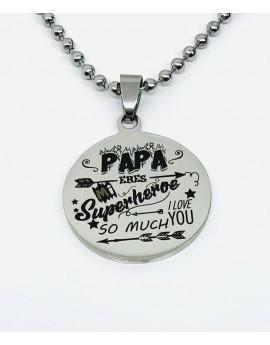 Colgante acero Papa eres mi...