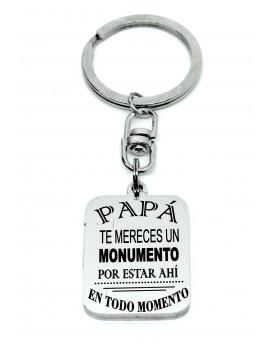 Llavero acero Papá monumento