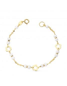 Pulsera perlas 3,5 mm. 13,5...