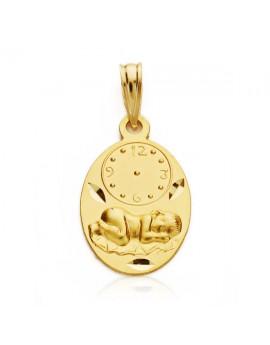 Medalla Niño reloj ovalada...
