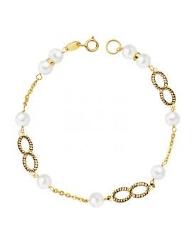 Pulsera comunión perlas 5,5...