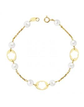 Pulsera comunión perlas 5...
