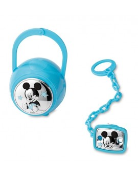 Set Pinza + Portachupetes Mickey