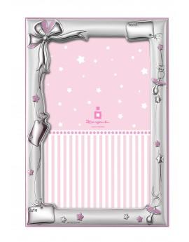 Marco recien nacido rosa 10x15