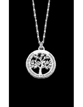 Collar Lotus Silver Árbol...