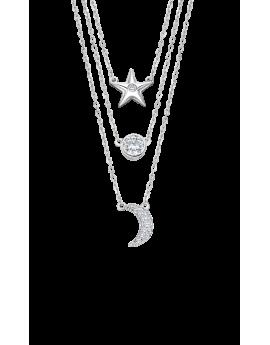 Collar triple Lotus Silver...