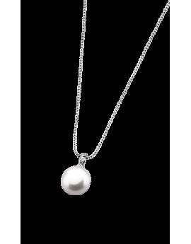 Collar Lotus Silver Perla...