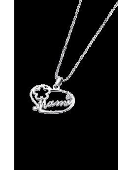 Collar Lotus Silver Corazón...