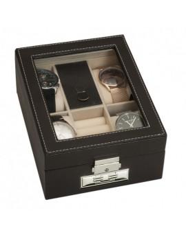 Caja 4 relojes + joyero...