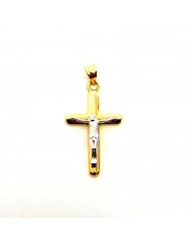 Cruz comunión Bicolor Oro...