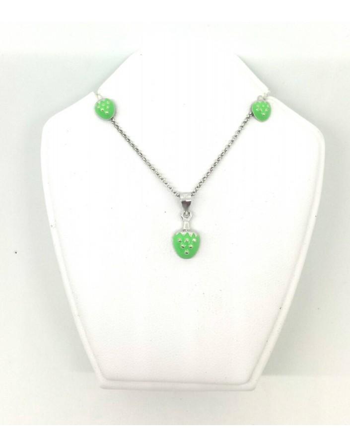 Conjunto plata fresa verde