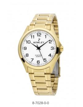 Reloj Nowley acero dorado...