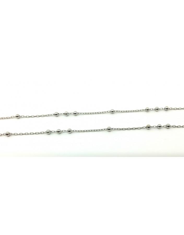 Cadena plata forzada 38, 40,42 y 45cm